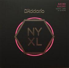 D'Addario NYXL 6-String Bass Guitar Strings super long scale gauges 32-130
