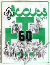 SCOUTS DE FRANCE N°38 + SUPPLEMENT CATALOGUE DES TENUES SCOUTES 1981