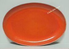 **-40%** Piatto vassoio ovale etnico in porcellana arancio e nero
