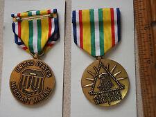 UNITED STATES MERCHANT MARINE ATLANTIC WAR ZONE ONE  MEDAL AUCTION BX J 12