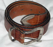 """Banana Republic Vintage Brown Leather Belt Fits 27"""" to 31"""" Waist Free Shipping"""