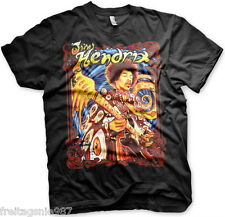 JIMI HENDRIX Colorful  T-Shirt  camiseta cotton officially licensed
