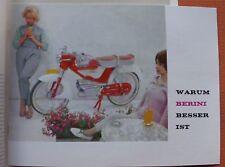 BERINI 1960 PROSPEKT M35 M21 SPORT TOUR NIEDERLANDE OLDTIMER MOTORRAD SAMMLER