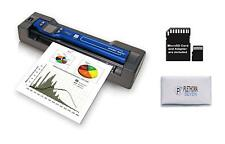 Vupoint Portable Scanner with Color Display & Auto-Feed Dock (PDSDK-ST470 Blue)