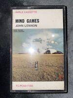 John Lennon - Mind Games - Rare Australia Cassette Tape - Apple
