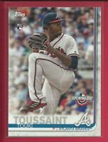 Touki Toussaint RC 2019 Topps Opening Day Rookie Card # 178 Atlanta Braves MLB