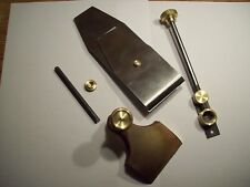 Norris type infill adjustment mechanism, blade lever capand screw for wood plane