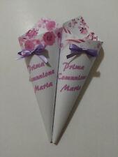 10 coni porta confetti caramelle festa compleanno sweet table comunione lilla