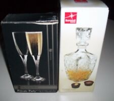 Lot Of 2 1 Stylesetter Drinking Glass & 1 Decanter Wine With Stopper