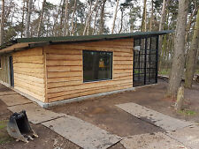 Rustic Waney Edge Garage Cladding From per SQ Metre