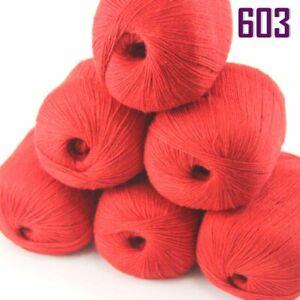 Sale 6BallsX50gr Luxury Soft Mongolian Pure Cashmere Hand Knitting Wool Yarn 603