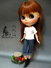 C.C.T Blythe Dal Licca doll outfit knee length jeans (blue) c-561