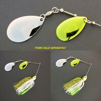 Bassdozer spinnerbaits DOUBLE INDIANA PALE ALEWIFE spinner bait baits