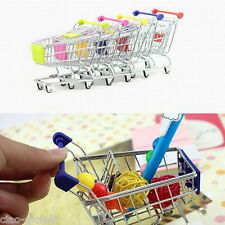 Mini Trolley Metal Shopping Cart Mobile Holder Storage Basket Gift Funny Toy