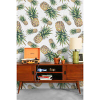 Removable wallpaper Pineapple Self adhesive Floral Peel and stick Home Decor