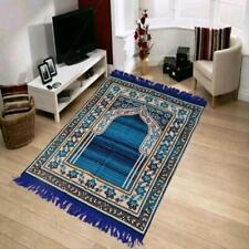 Riftree Chenille Anti-Skid Muslim Islamic Jainamaz/Prayer mat (Blue)