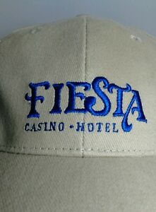 2005 Fiesta Casino Hotel Las Vegas Baseball Cap Hat ROYAL FLUSH CAPITAL OF WORLD