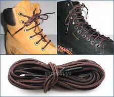 Brown 150cm Long Hiking Trekking Shoe Work Boot Laces Trek Hike Hiker 6/7 Eyelet