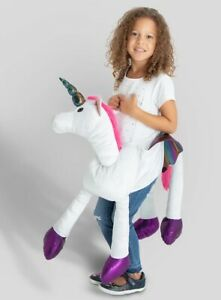 KIDS UNICORN RIDE IN COSTUME OUTFIT ONE SIZE FITS 3-8 YEARS