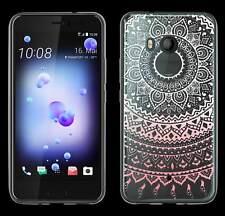 TPU Tattoo Case Mandala Design für HTC U11 Tasche Schutz Hülle Etui transparent