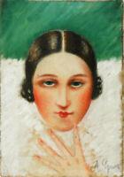 portrait  vers 1925/1930 signé A.Gruss