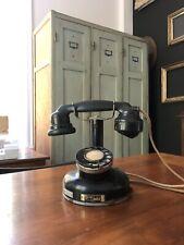 Ancien Telephone Retro Metal Et Bakelite Noir PTT