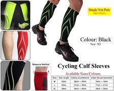 Compression Calf Sleeves Support Leg Shin Splints Sport Cycling Running Black