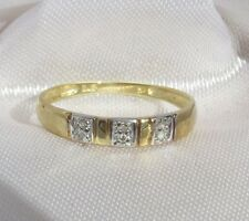 0.04cts Genuine DIAMONDS Wedding/Eternity/Dress ring Real 9k/9ct gold Size 7/N