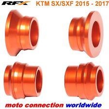 RFX FRONT & REAR ORANGE WHEEL SPACERS KTM SXF250 SXF350 SXF450 2017 FR502/RR506