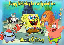 Personalised Birthday Card Spongebob Son Daughter Grandson Granddaugter