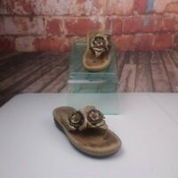Clarks Artisan Floral Leather Sandals Flip Flops Size 6