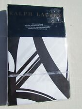 Nwt Ralph Lauren Ellington Deco Black White Standard Pillow Sham New