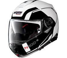 Nolan N100-5 Flip up Helmet Consistency N-Com Motorcycle Helmet - METAL WHITE