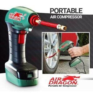 AIR DRAGON PORTABLE AIR COMPRESSOR W/ DIGITAL DISPLAY PLUG IN CAR POWER SUPPLY