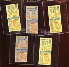 1970 New York Mets Baseball Ticket Stubs 5 Different