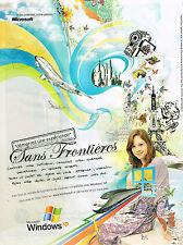 PUBLICITE ADVERTISING 045  2005  MICROSOFT WINDOWS XP  logiciel SANS FRONTIERES