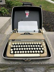 Smith Corona 1968 Super Sterling Typewriter, Case