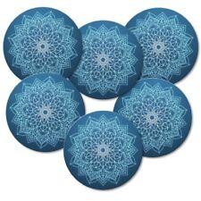 "Kork Untersetzer 6-tlg.Set /""Mandala/"" Meditation Yoga Yantra Sanskrit"