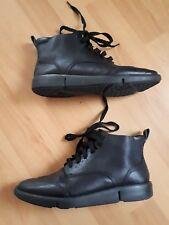 Clarks Narrative Ankle Boots Size uk 4.5D - 5D Black Leather vgc