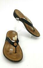 Ugg Australia Flip Flops Sandals Womens 7 US Hamoa Shearling Leather Black
