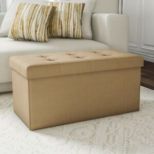 Bedroom Storage Bench Ottoman Tufted Seat Stool Foot Rest End Of Bed Large Chest
