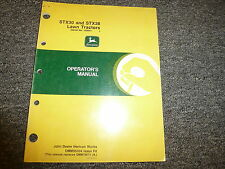 John Deere STX30 & STX38 Lawn Tractor Owner Owner's Operator Manual OMM95304