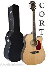 CORT MR710F SOLID TOP ACOUSTIC/ELECTRIC GUITAR WITH HARD CASE