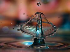 PHOTOGRAPH WATER DROP LIQUID MOTION POSTER ART PRINT PICTURE BB302A