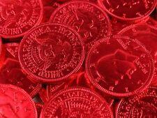Milk Chocolate Coins 2-lbs - red - kosher