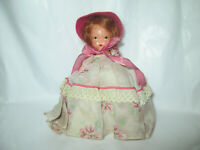 Nancy Ann Storybook doll VIntage Old bisque? painted eye straight leg BO PEEP