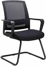 CLATINA Office Guest Chair with Lumbar Support and Mid Back Mesh Space Air Grid
