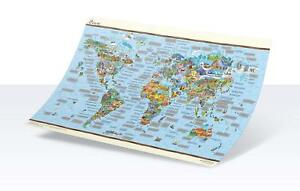 Large Scratch Off World Map Atlas Travel Poster Holiday Memory - Amazing Facts