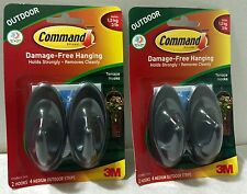 Two Packages of 3M Command Damage-Free Hanging, Outdoor Terrace Hooks, Brand New