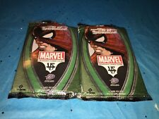2 OPEN PACKS WEB OF SPIDER MAN MARVEL TRADING CARD GAME